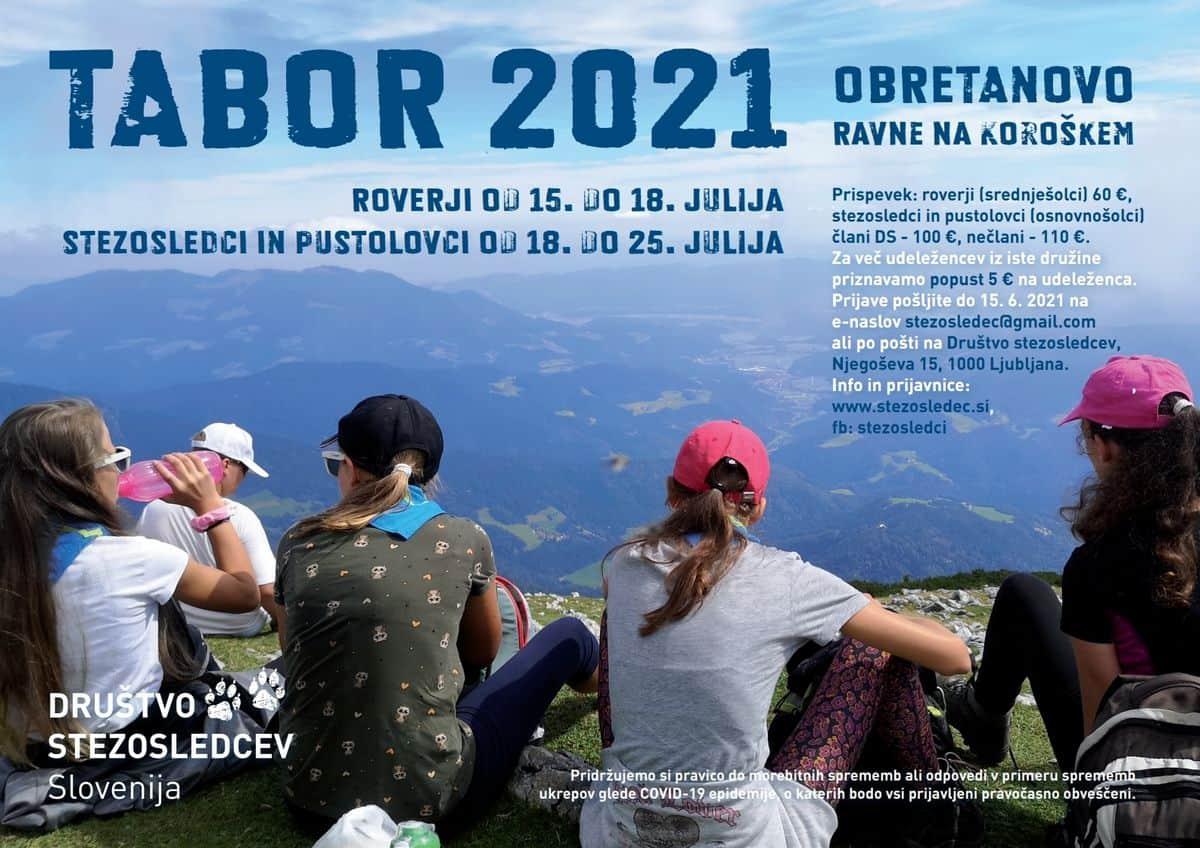 Stezosledec.si Taborjenje Obretanovo 2021 plakat